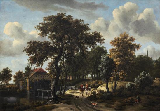 Meindert Hobbema. Les voyageurs (v. 1662)