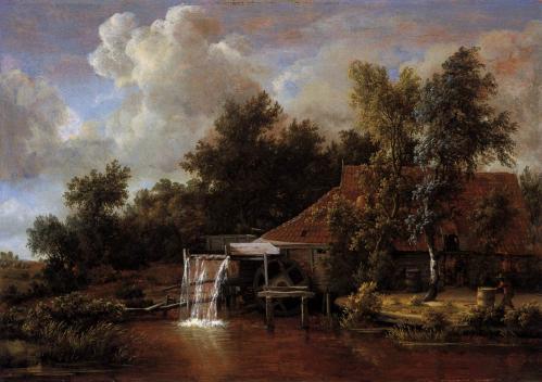 Meindert Hobbema. Moulin à eau (1666)