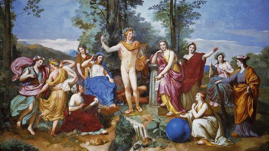 Mengs. Apollon Mnémosyne et les neuf muses (1750-61)