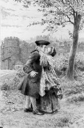 Mme de Larnage et Rousseau (gravure)