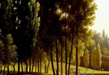 Mortefontaine. La lumière à travers les arbres