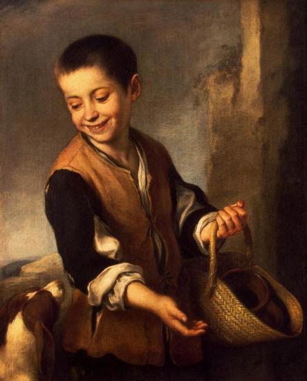 Murillo. Garçon avec un chien (1650)