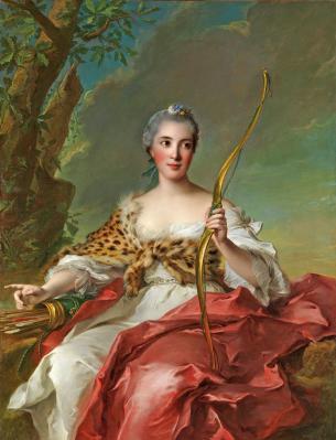 Nattier. Madame de Maison-Rouge en Diane (1756)