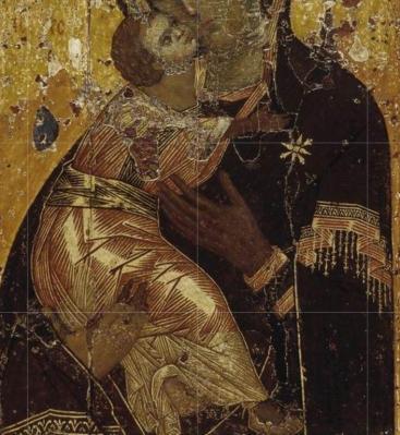 Notre-Dame de Vladimir. Détail