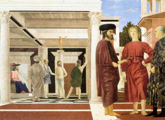 P. della F. La flagellation du Christ (v. 1455)