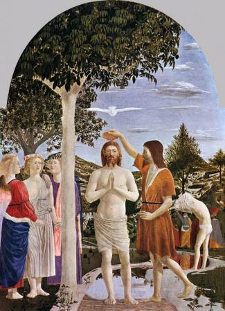 Piero della Francesca. Le baptême du Christ (1448-50)
