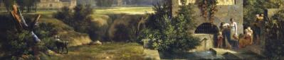 PH de Valenciennes. Paysage classique, premier plan