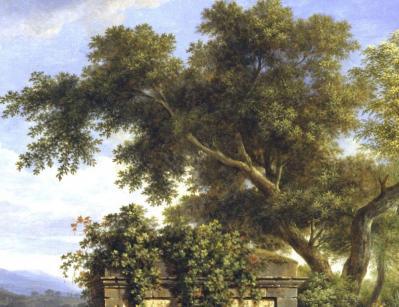 PH de Valenciennes. Paysage classique, le chêne majestueux