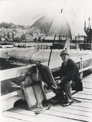 Photographie d'Eugène Boudin à Deauville-Trouville (juin 1896)