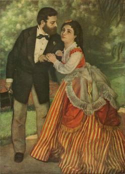 Pierre-Auguste Renoir. Les Fiancés ou Le Ménage Sisley (v. 1868)