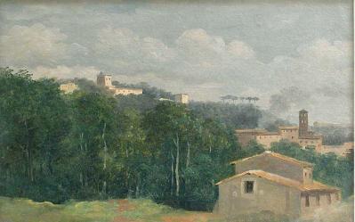 Pierre-Henri de Valenciennes. À la villa Farnèse, les maisons parmi les arbres (1777-1785)