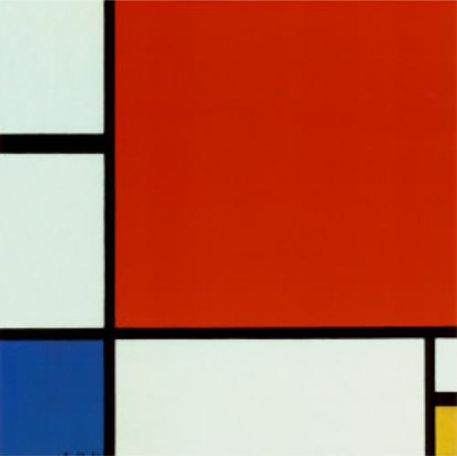 Piet Mondrian. Composition en rouge, bleu et jaune (1930)