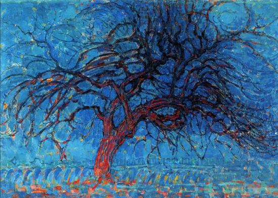 Piet Mondrian. L'arbre rouge (1908-10)