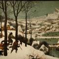 Pieter Brueghel l'Ancien. Chasseurs dans la neige (1565)