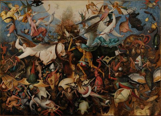 Pieter Brueghel l'Ancien. La Chute des anges rebelles (1562)