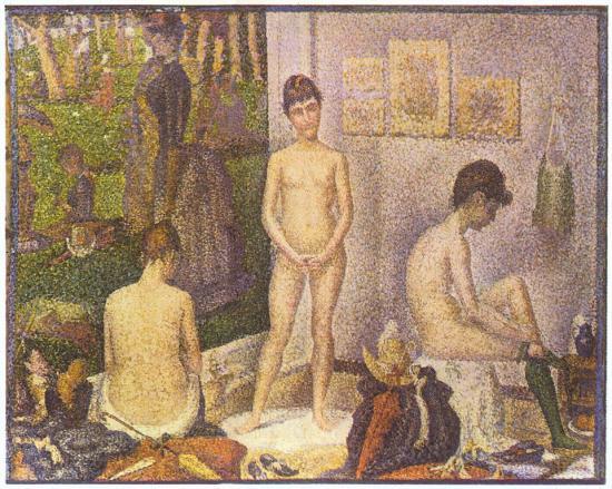 Seurat. Les Poseuses (1888)