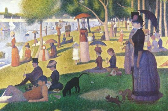 Seurat. Un dimanche après-midi sur l'île de la Grande Jatte (1884-86)