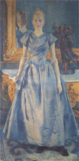 Van Rysselberghe. Portrait d'Alice Sethe (1888)