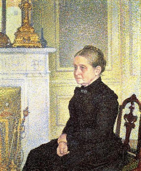 Van Rysselsberghe. Portrait de Madame Charles Maus (1890)