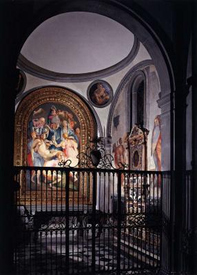 Pontormo. Vue de la chapelle Capponi