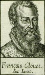 Portrait de Francois Clouet. Estampe de Léonard Gauthier (BNF)