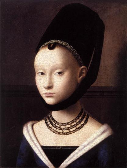 Petrus Christus. Portrait de jeune fille (v. 1470)