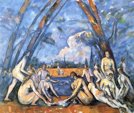 Cézanne. Les grandes baigneuses, 1906