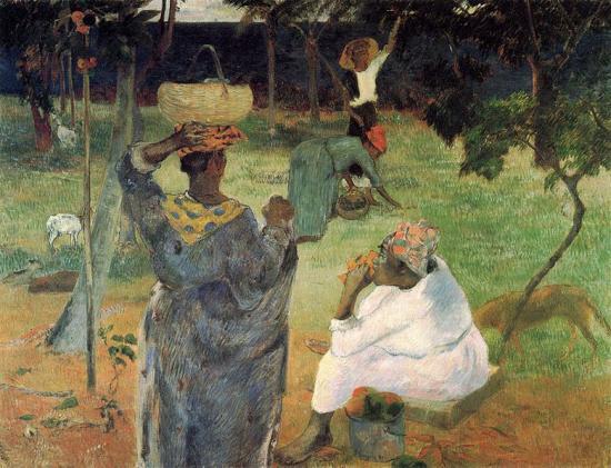 Gauguin. La cueillette des fruits,1887