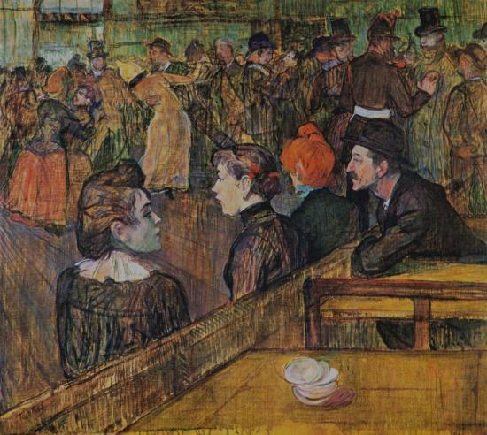 Toulouse-Lautrec. Au Moulin de la Galette, 1889