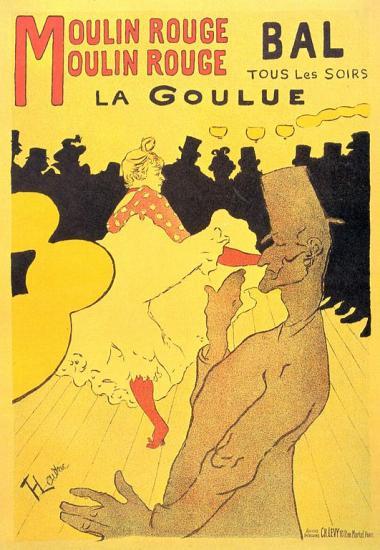 Toulouse-Lautrec. La Goulue (affiche), 1891