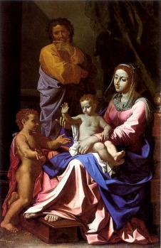 Poussin. La Sainte Famille (1655)