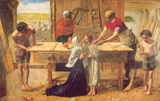 Millais. Christ in the House of his Parents (1850)