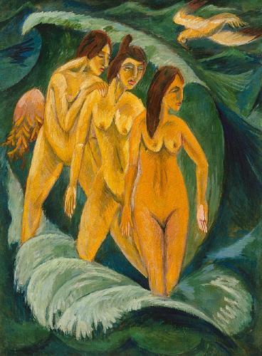 Kirchner. Trois baigneuses (1913)