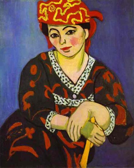 Matisse. Madame Matisse madras rouge (1907)