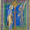 Psautier de Saint-Alban, Tentation du Christ (v. 1125)
