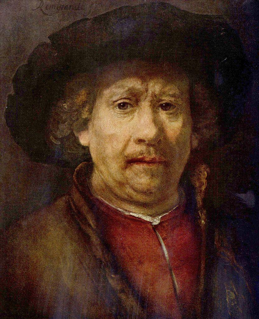 Biographie et uvre de rembrandt for Autoportrait miroir