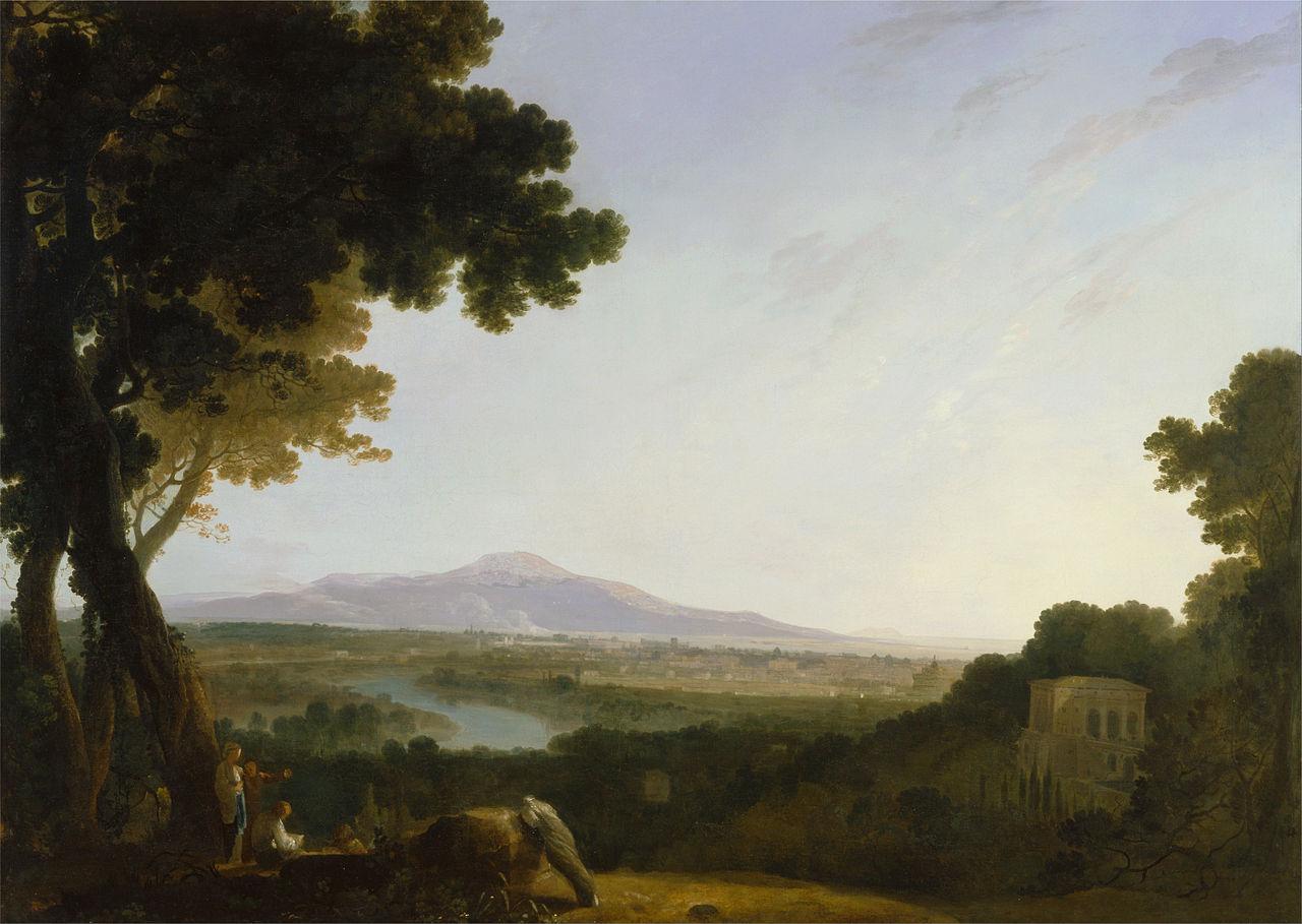 Biographie et uvre de richard wilson peintre britannique for Paysagiste anglais celebre