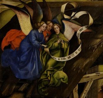 Robert Campin. Nativité. Les anges