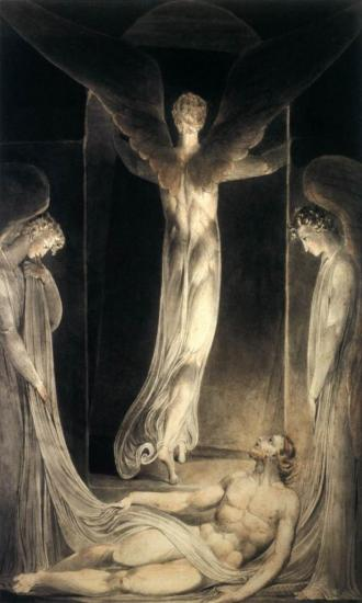 William Blake. La résurrection (1805)