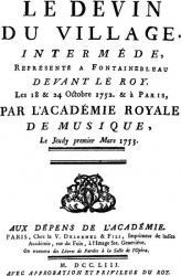 Rousseau. Le Devin du village (édition originale)