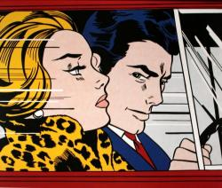 Roy Lichtenstein. In the car (1963)