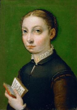 S-Anguissola. Autoportrait (1554)