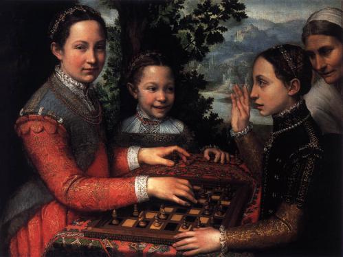 S. Anguissola. Les sœurs Anguissola jouant aux échecs (1555)