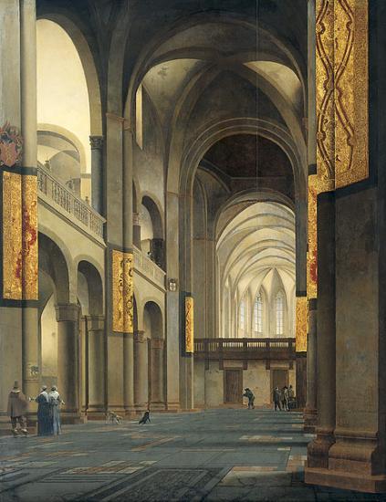 Saenredam. La nef et le chœur de l'église Sainte-Marie à Utrecht (1641)