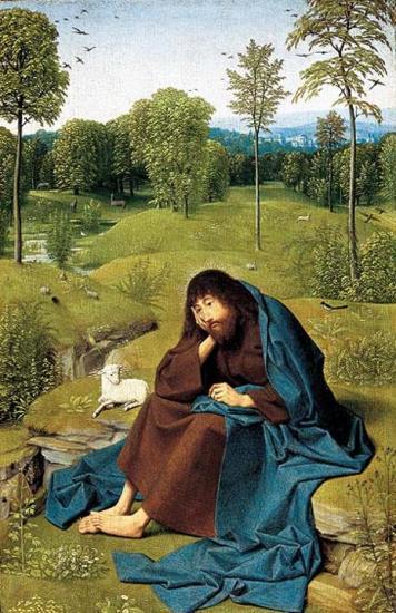 Gérard de Saint-Jean. Saint Jean-Baptiste au désert (1480-95)