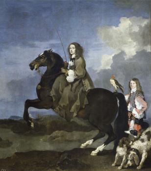 Sébastien Bourdon. Christine de Suède à cheval (1653-54)