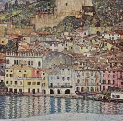 Klimt. Vue de Malcesine, 1913