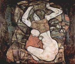 Schiele. Jeune mère, 1914