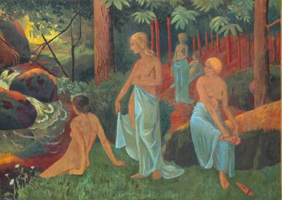 Sérusier. Les baigneuses aux voiles blancs (1908)