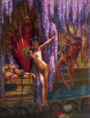 Bussière. Danseuses exotiques,1880